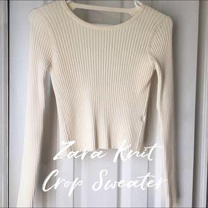 Zara Knit cropped sweater